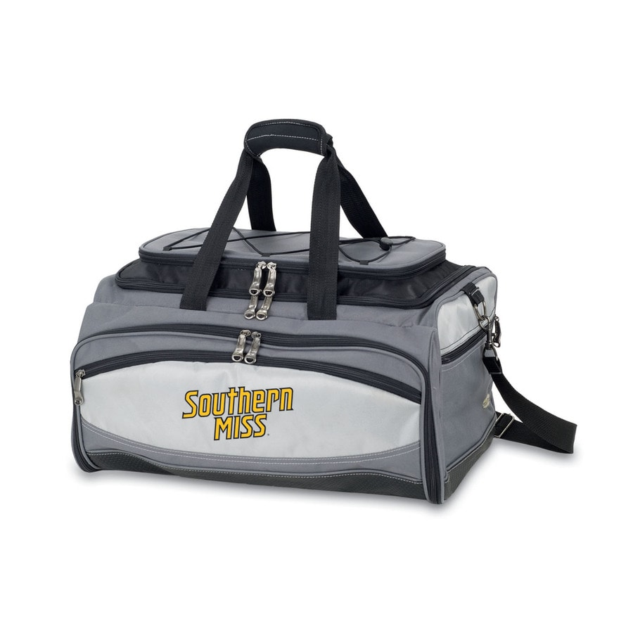 Picnic Time Vulcan Southern Miss Golden Eagles 164 Sq.-in Portable Gas Grill and Cooler with Embroidered Case