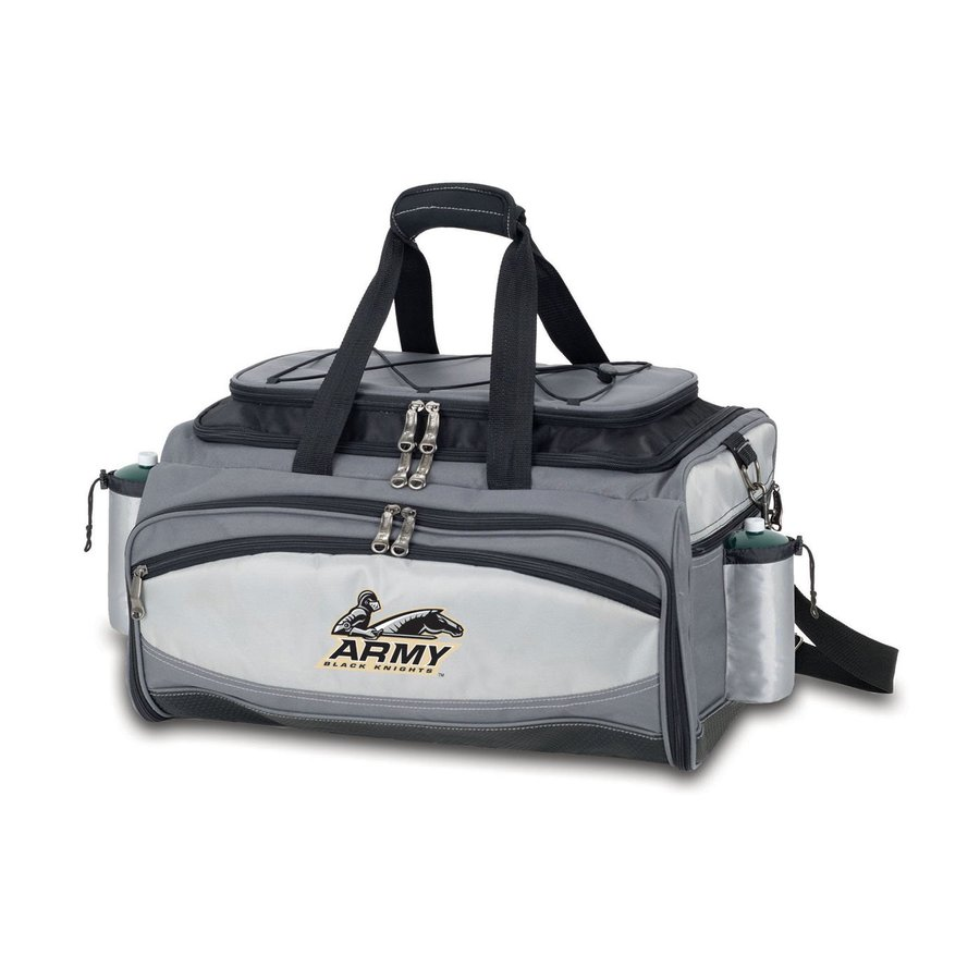 Picnic Time Vulcan Army Black Knights 164 Sq.-in Portable Gas Grill and Cooler with Embroidered Case