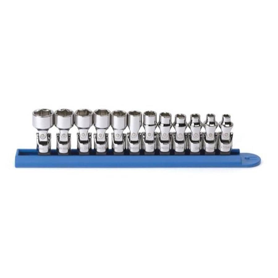 """KD Tools Total Number Of Pieces-Piece Metric 1/4"""" Drive 4. Depth 6-Point Socket Set"""