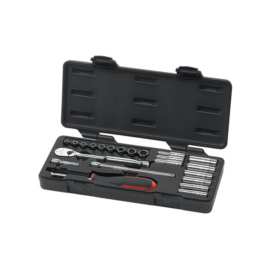 KD Tools 22-Piece Standard (SAE) Mechanic's Tool Set with Hard Case
