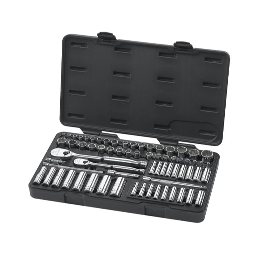 KD Tools 68-Piece Standard (SAE) and Metric Mechanic's Tool Set with Hard Case