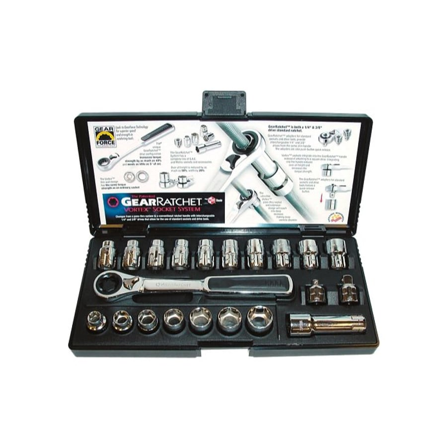 KD Tools 21-Piece Standard (SAE) and Metric Mechanic's Tool Set with Hard Case