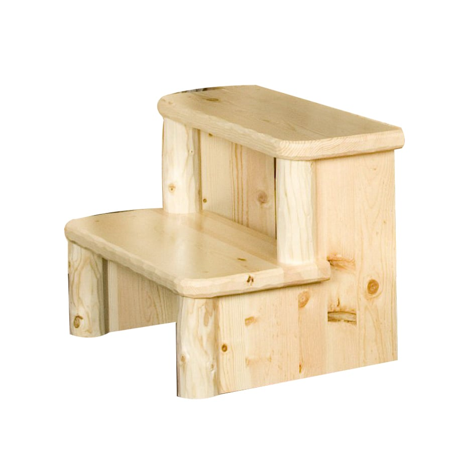 Viking Industries 2-Step Wood Step Stool  sc 1 st  Loweu0027s & Shop Viking Industries 2-Step Wood Step Stool at Lowes.com islam-shia.org