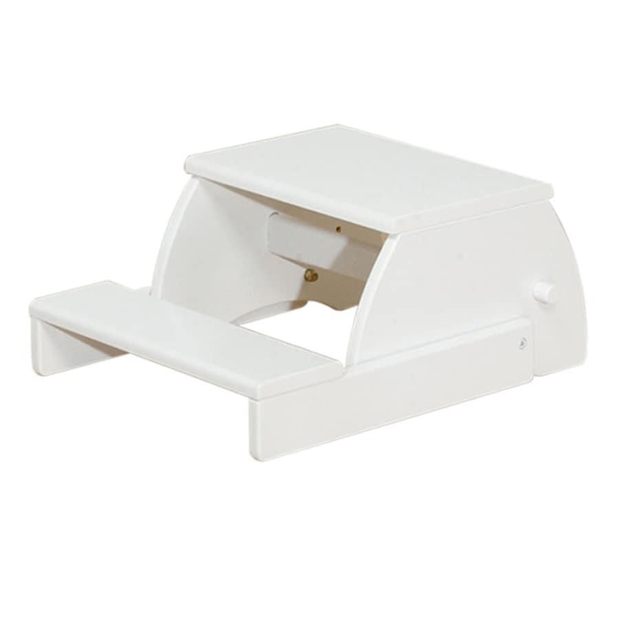 KidKraft 2-Step White Wood Step Stool