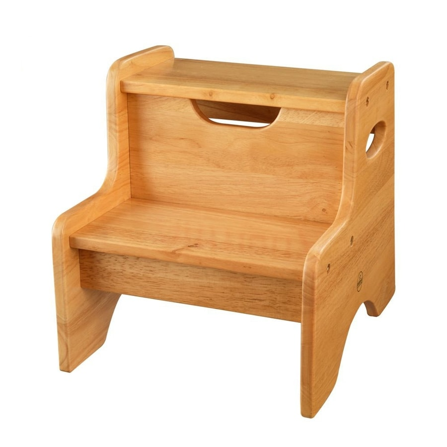 KidKraft 2-Step Wood Step Stool  sc 1 st  Loweu0027s : wooden kids step stool - islam-shia.org