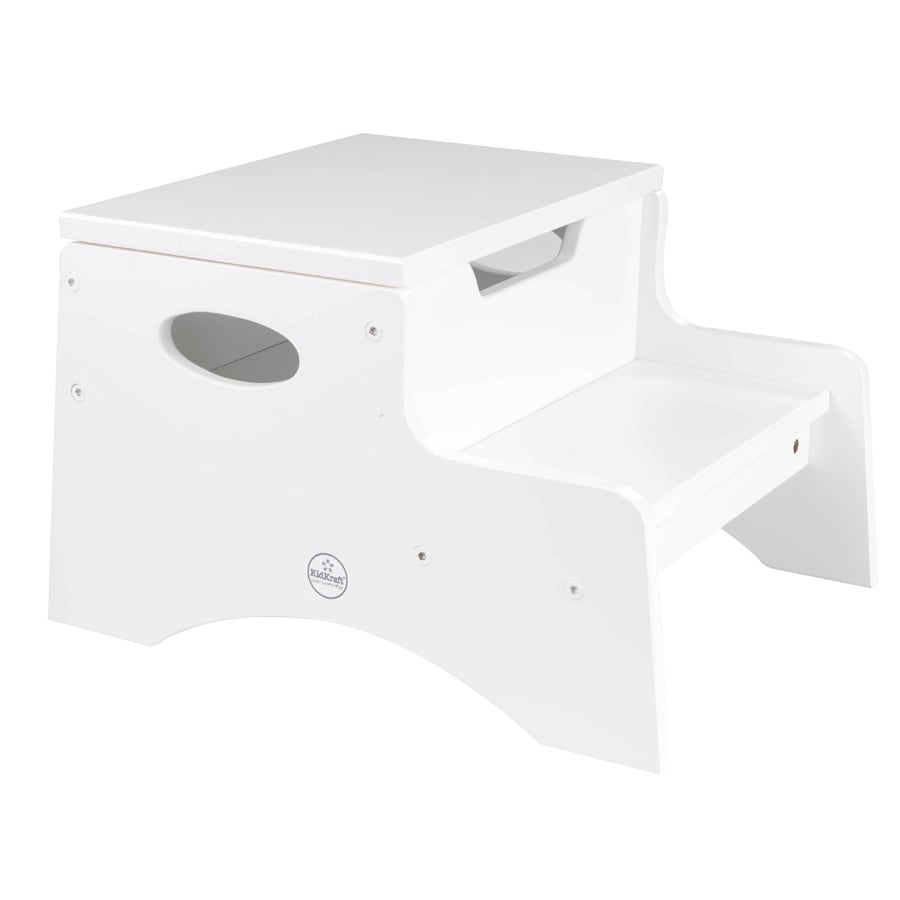 KidKraft 2-Step 90-lb Load Capacity White Wood Step Stool
