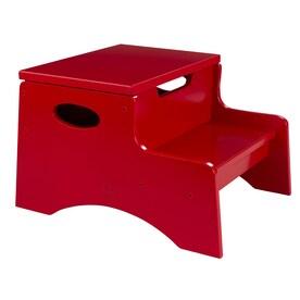 kidkraft 2step 90lb load capacity red wood step stool