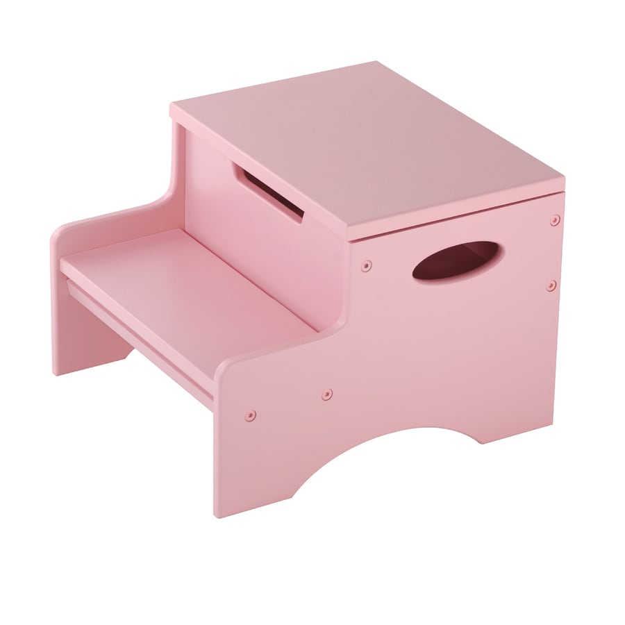 Shop Kidkraft 2 Step 90 Lb Capacity Pink Wood Step Stool