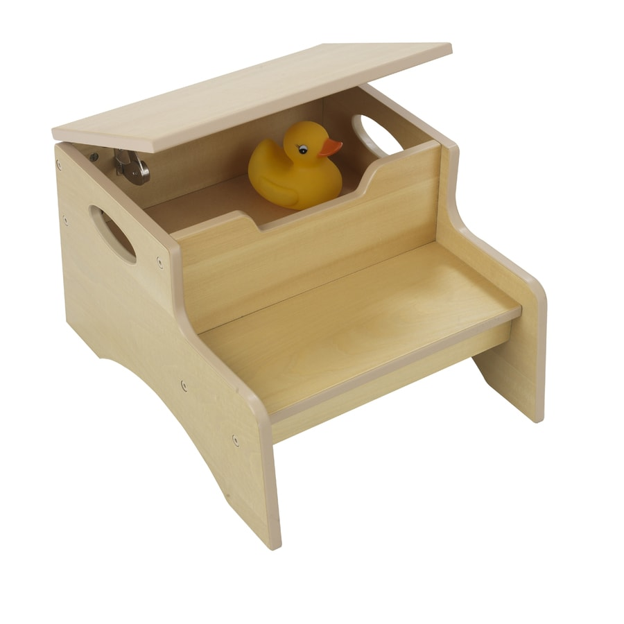 Shop Kidkraft 2 Step 90 Lb Brown Wood Step Stool At Lowes Com