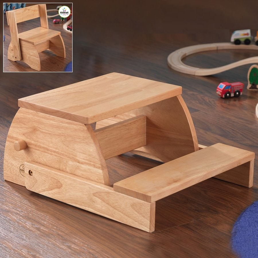 Shop Kidkraft 2 Step Natural Wood Step Stool At Lowes Com