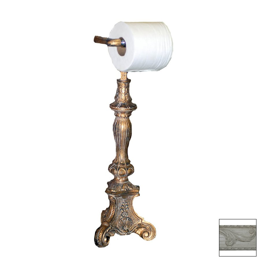 Hickory Manor House Antique White Freestanding Countertop Toilet Paper Holder