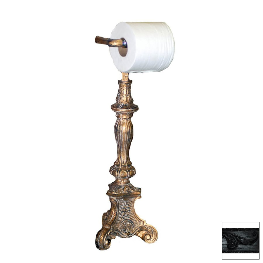 Hickory Manor House Black Freestanding Countertop Toilet Paper Holder