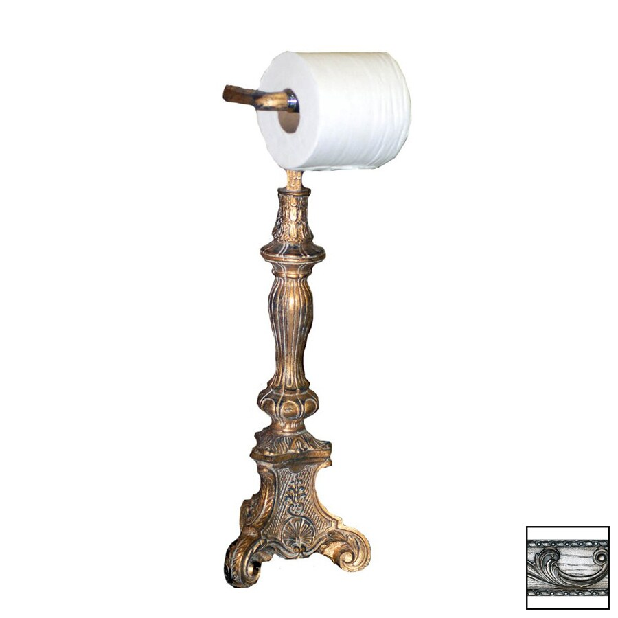 Countertop Toilet Paper Holder : ... Gilt Silver Freestanding Countertop Toilet Paper Holder at Lowes.com