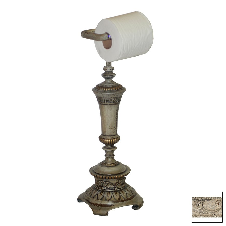 Hickory Manor House Vintage Blanc Freestanding Countertop Toilet Paper Holder