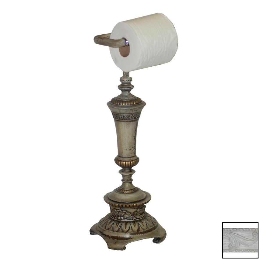 Hickory Manor House Whitewash Freestanding Countertop Toilet Paper Holder