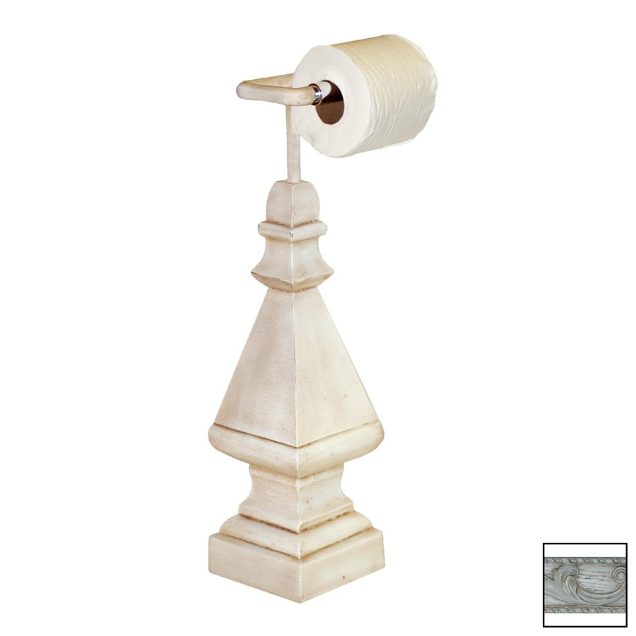 Hickory Manor House Old World White Freestanding Countertop Toilet Paper Holder