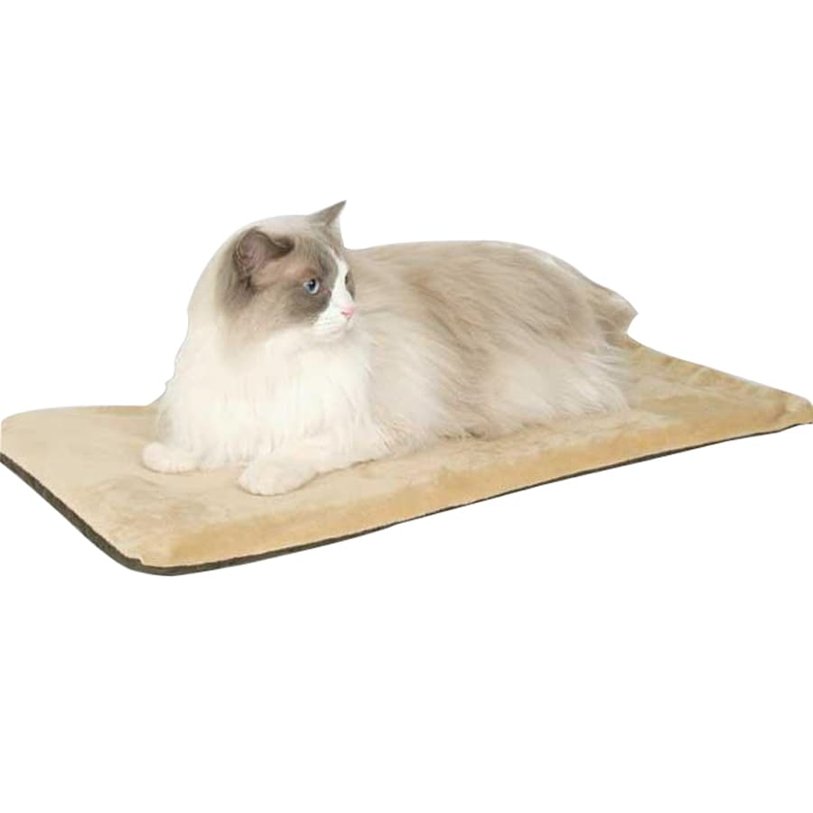 K&H Manufacturing Mocha Polyester Rectangular Cat Bed