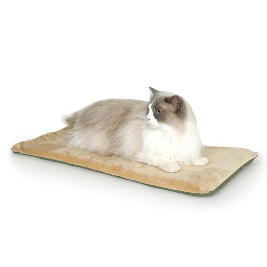 K&H Manufacturing Sage Polyester Rectangular Cat Bed
