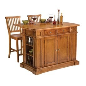 wood kitchen furniture. Home Styles Brown Midcentury Kitchen Islands 2-Stools Wood Kitchen Furniture