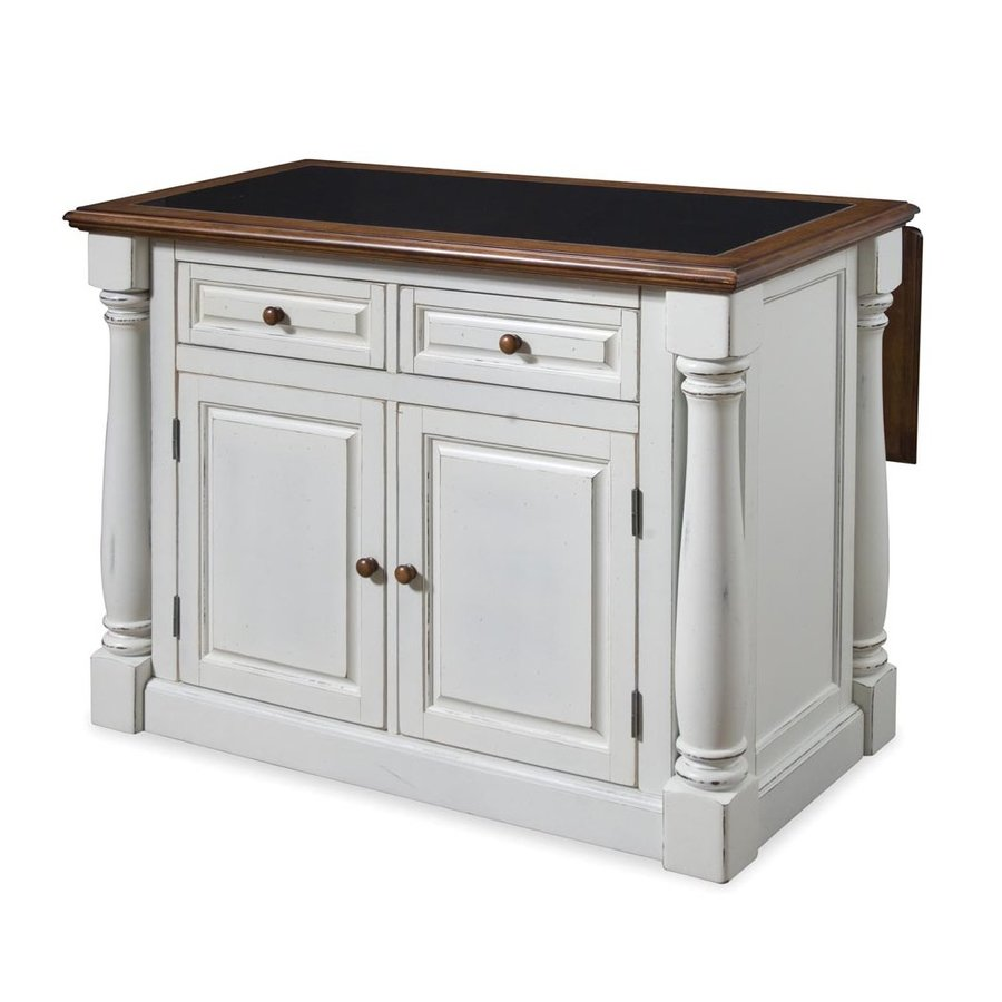 Uncategorized Lowes Kitchen Island shop home styles white midcentury kitchen island at lowes com island
