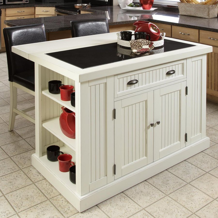 Kitchen Island 36 X 48 shop home styles 48-in l x 37-in w x 36.25-in h distressed white
