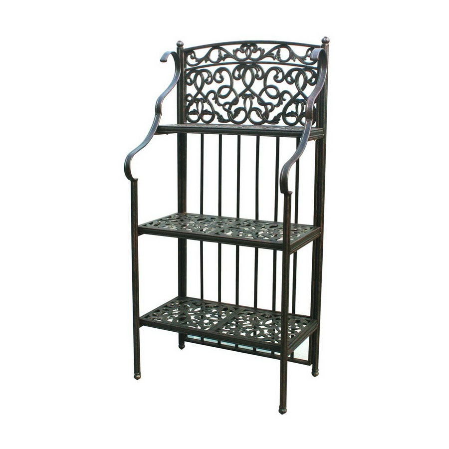 Darlee Antique Bronze Metal Bakers Rack
