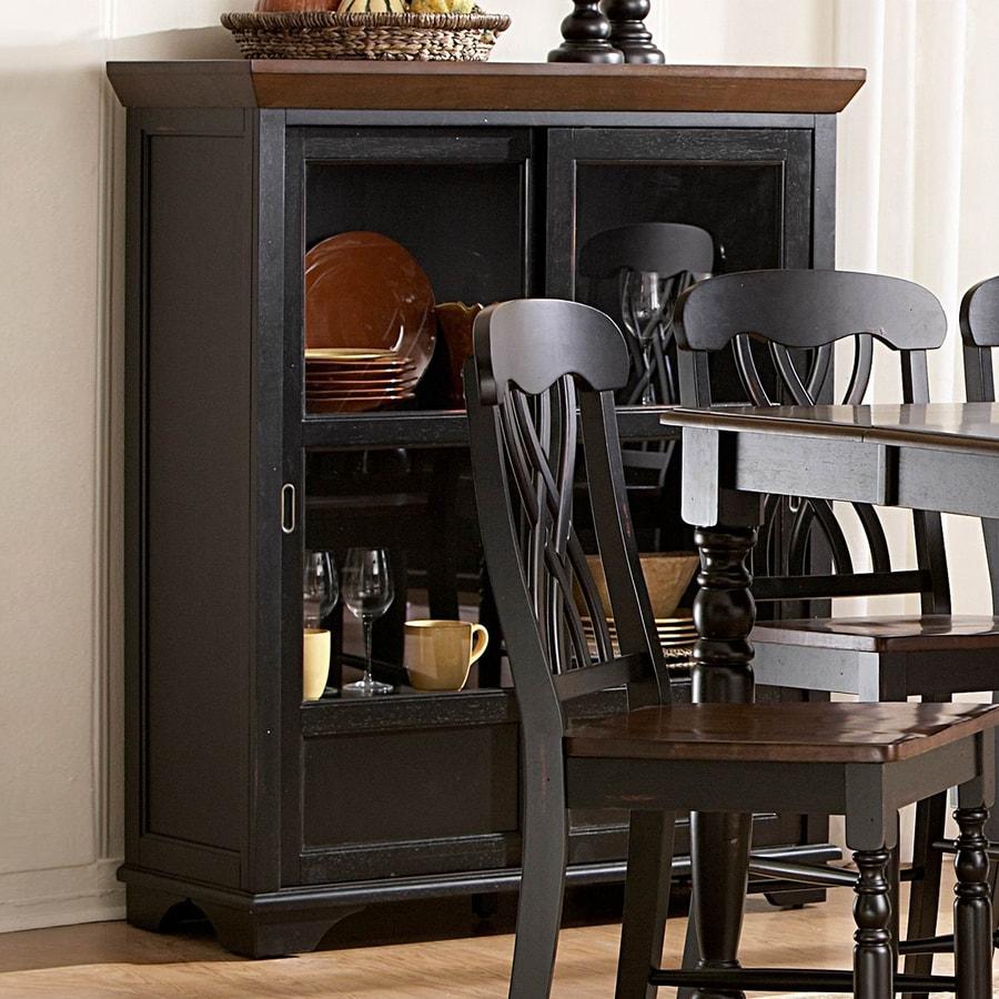 Homelegance Ohana Antique Black Rectangular Curio Cabinet