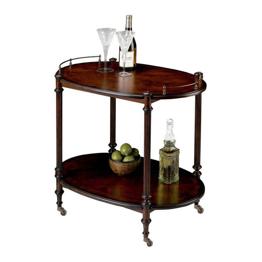 Butler Specialty Plantation Cherry Oval Serving Table