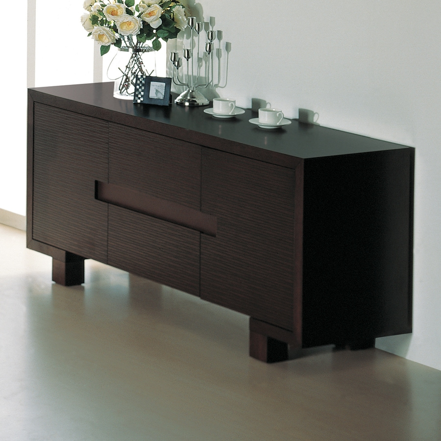 shop beverly hills furniture etch wenge sideboard at. Black Bedroom Furniture Sets. Home Design Ideas