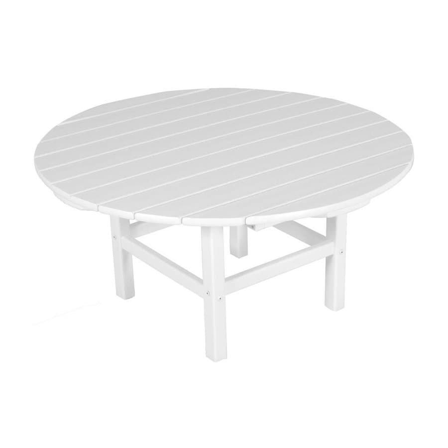 Shop Polywood 38 In W X 38 In L Round Plastic Coffee Table At