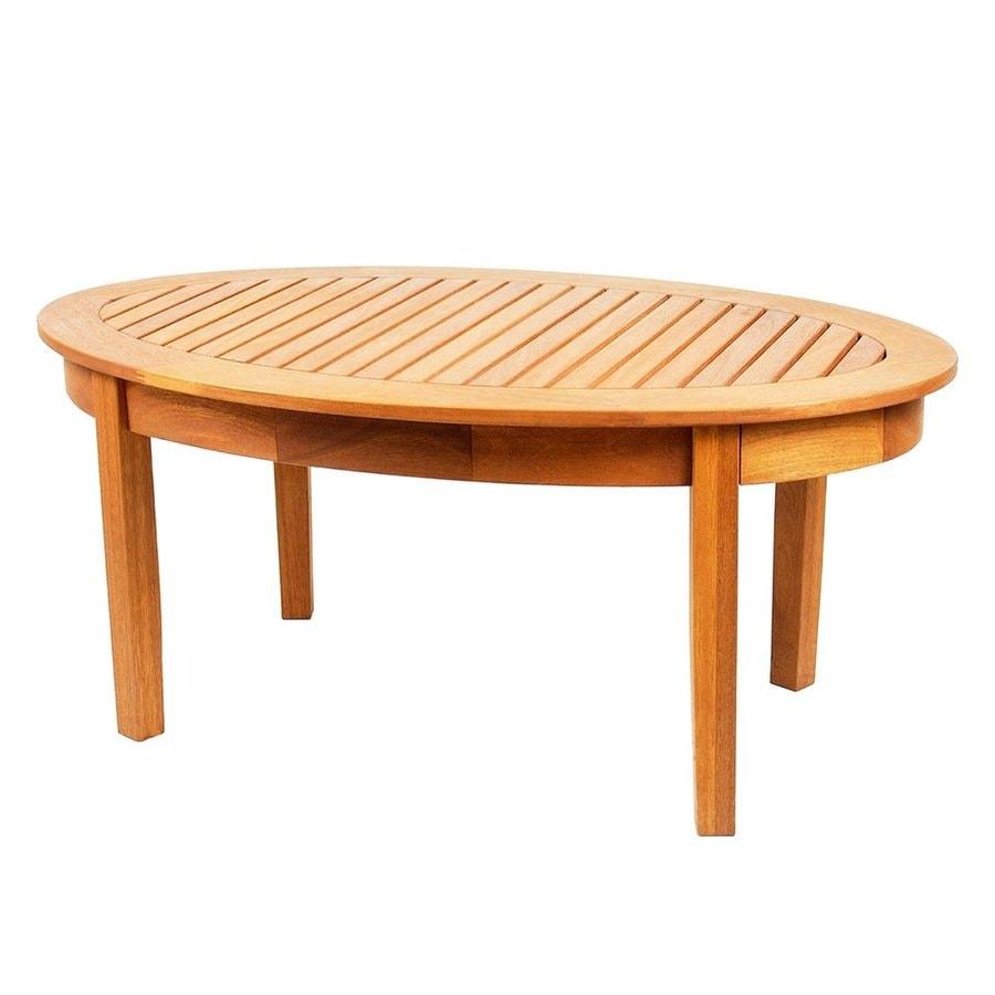 ACHLA Designs Monet 24-in W x 42-in L Oval Eucalyptus Coffee Table