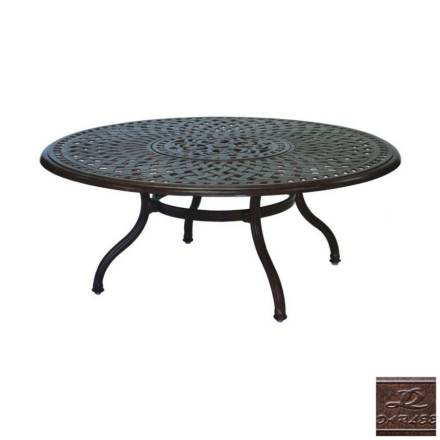 Aluminum Patio Coffee Table: Darlee Series 60 Aluminum Round Patio Coffee Table At