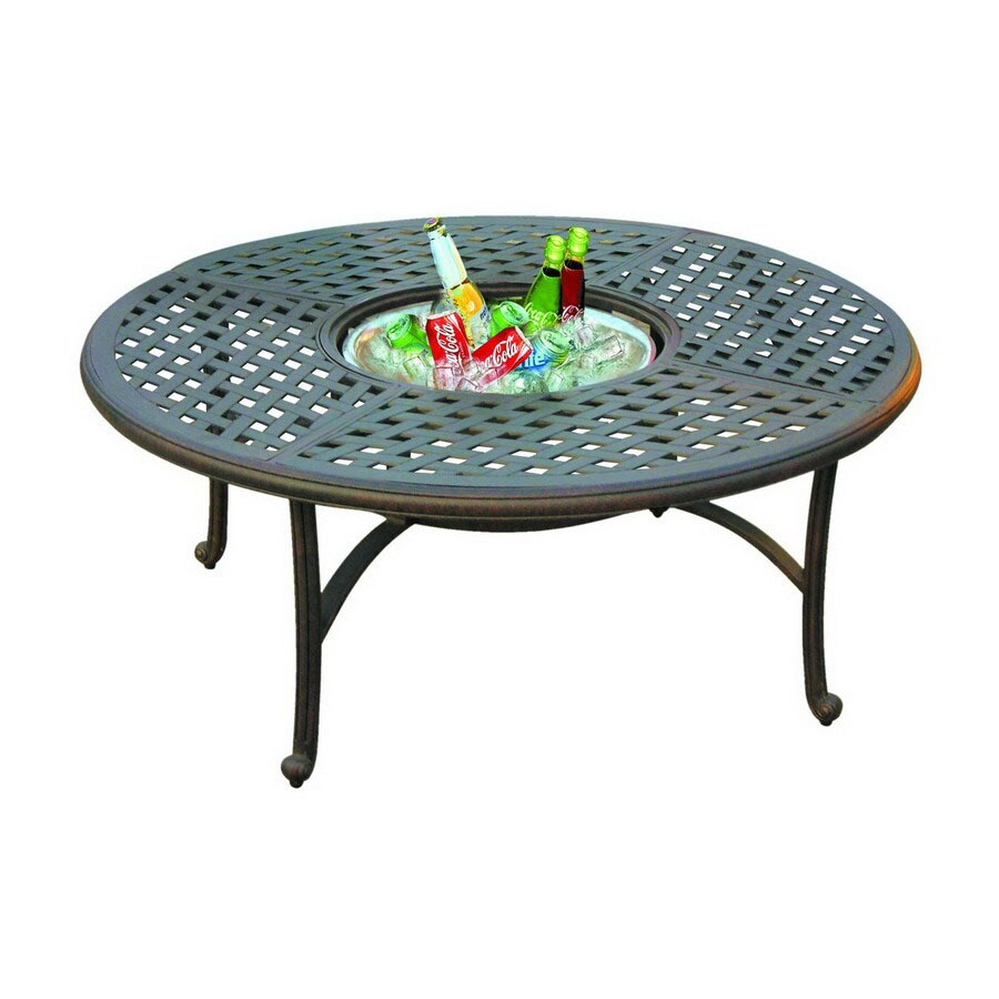 Threshold Cast Aluminum Coffee Table: Darlee Series 30 Aluminum Round Patio Coffee Table At