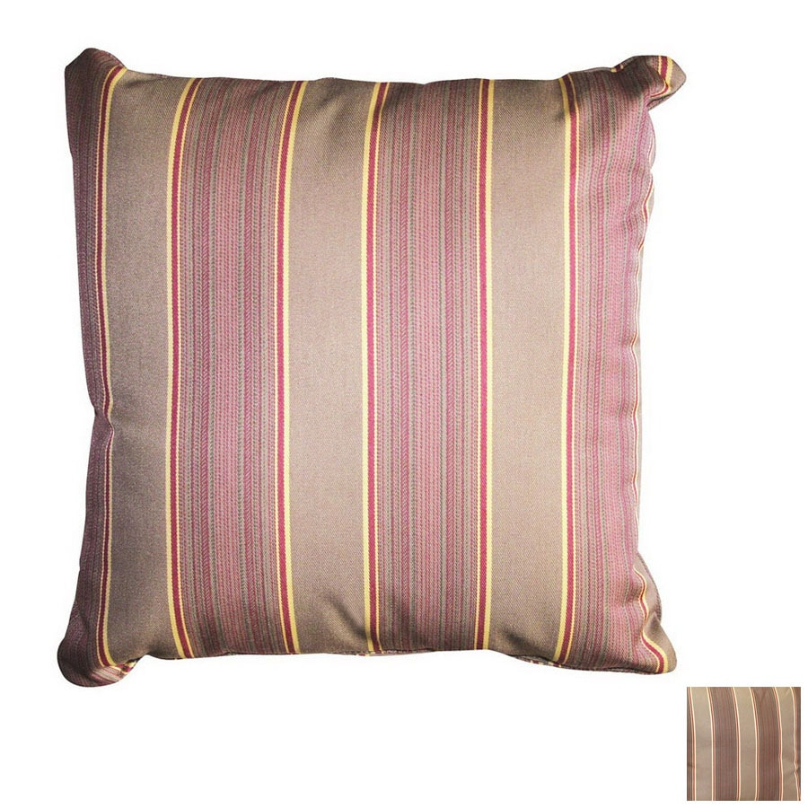 Darlee Multicolor Stripe Square Outdoor Decorative Pillow