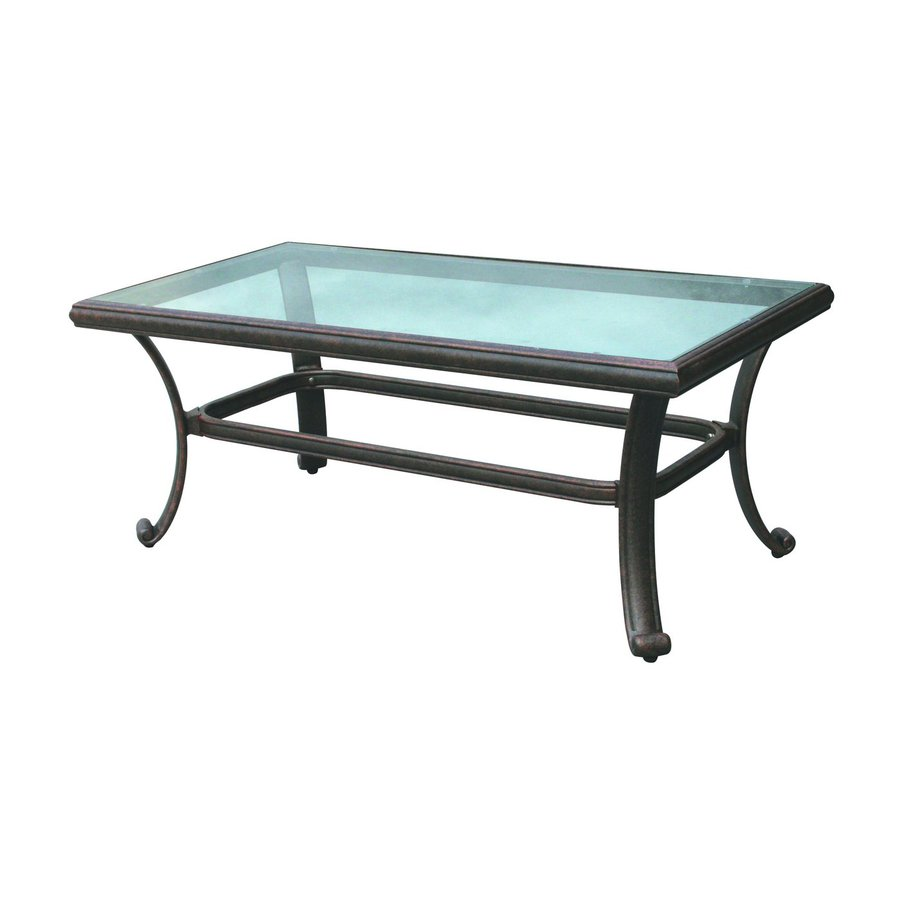 Shop Darlee Series 50 24 In W X 42 In L Rectangular Aluminum Coffee Table At
