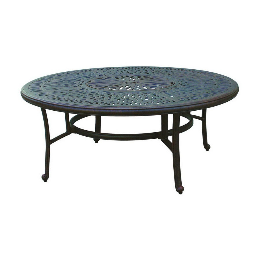 Aluminum Patio Coffee Table: Darlee Elisabeth Tables Aluminum Round Patio Coffee Table