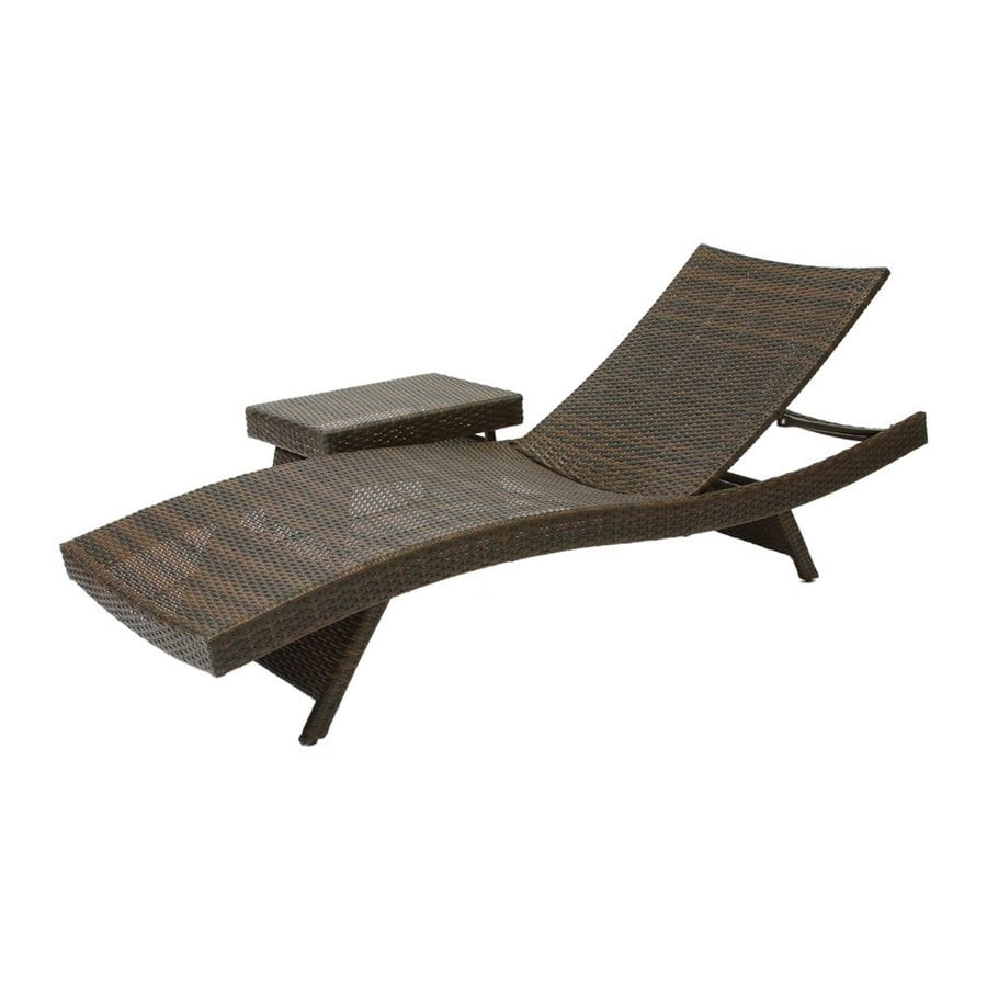 Shop best selling home decor multi brown plastic stackable for Alyssa outdoor chaise lounge