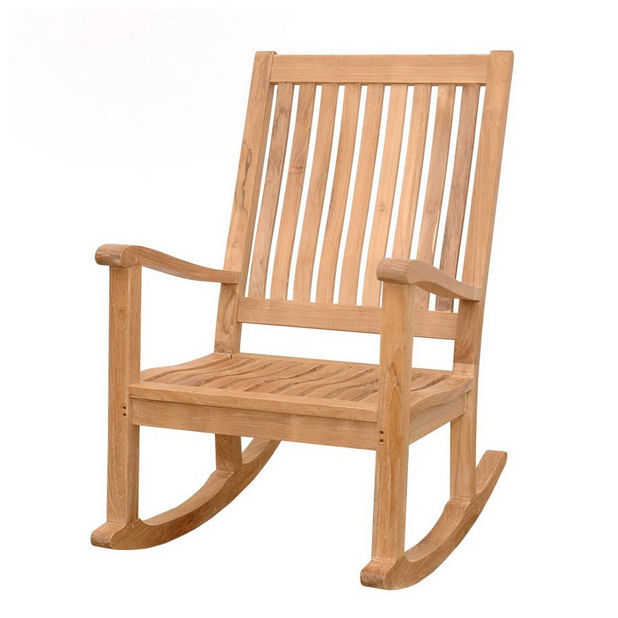 shop anderson teak del amo natural patio rocking chair at. Black Bedroom Furniture Sets. Home Design Ideas