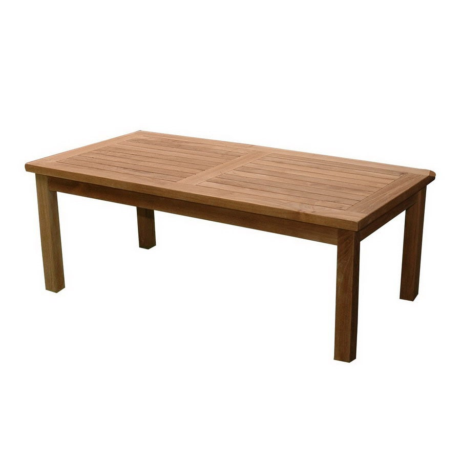 Anderson Teak Bahama 23-in W x 47-in L Rectangle Teak Coffee Table