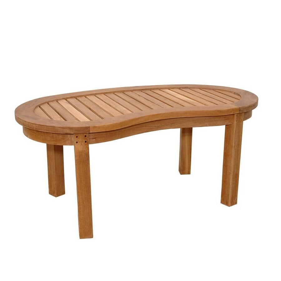 Anderson Teak Curve Oval Patio Coffee Table