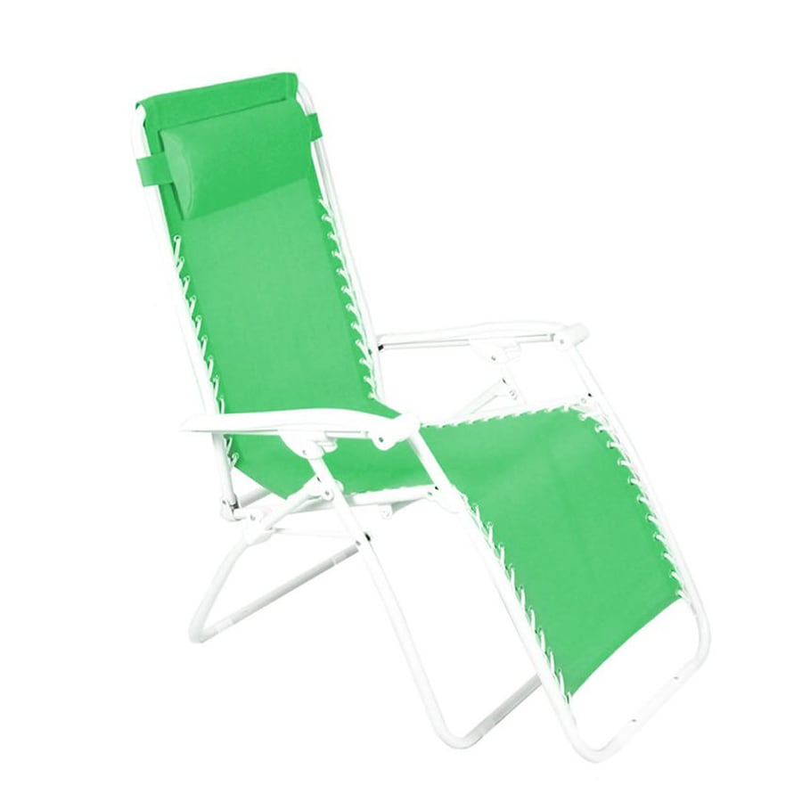 Jordan Manufacturing Grass Green Steel Folding Patio Zero Gravity Chair