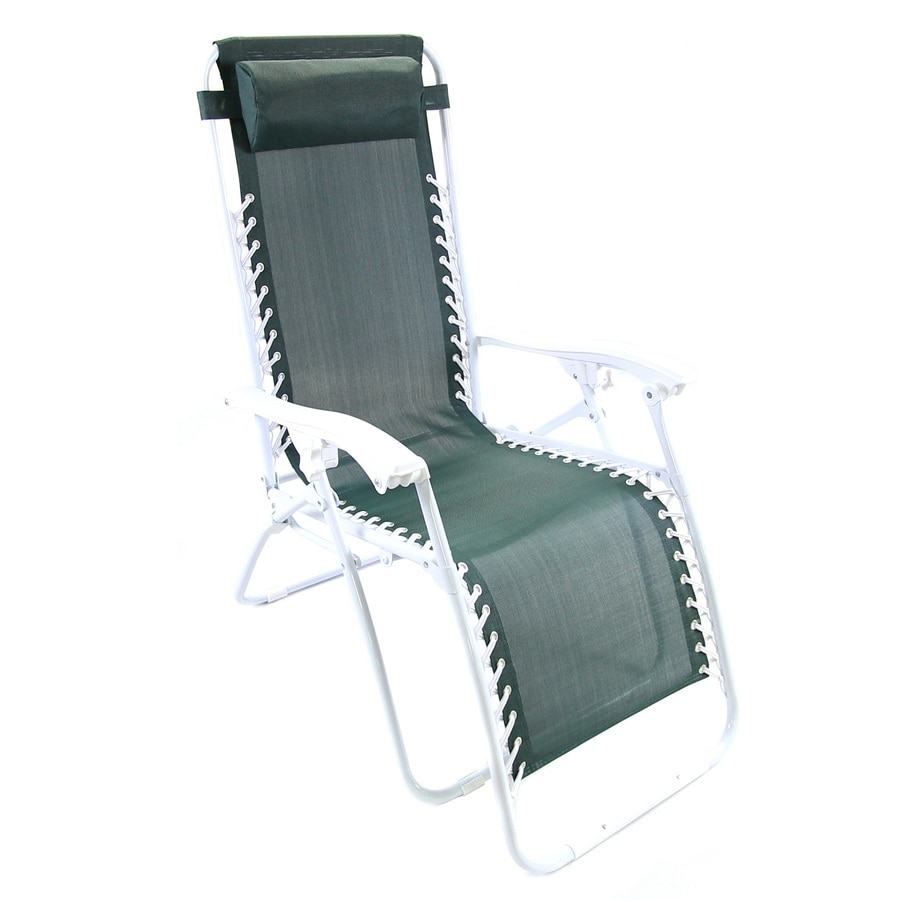 Jordan Manufacturing Green Steel Folding Patio Zero Gravity Chair