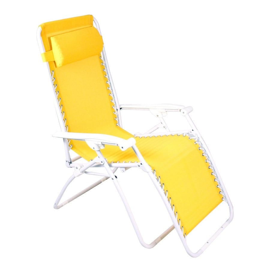 Jordan Manufacturing Yellow Steel Folding Patio Zero Gravity Chair