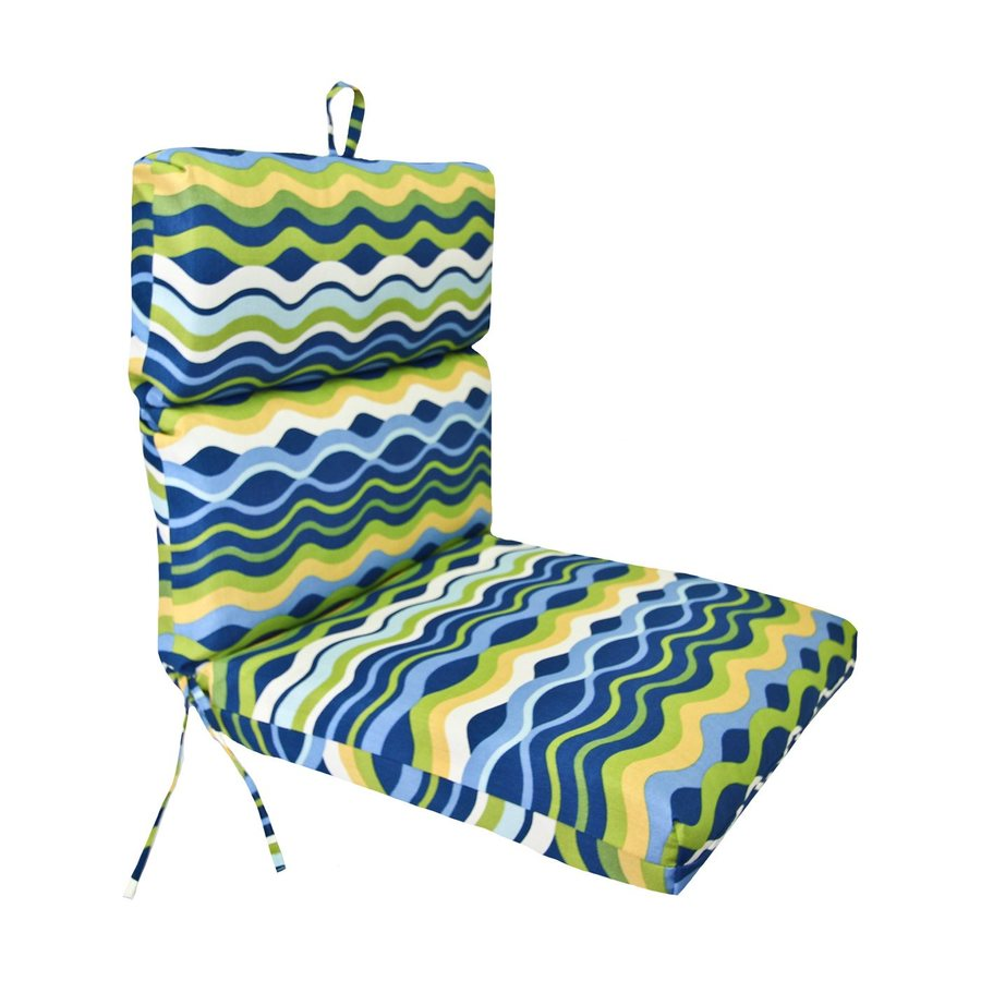 Jordan Manufacturing Rectangle Striped Poolside Patio Chair Cushion