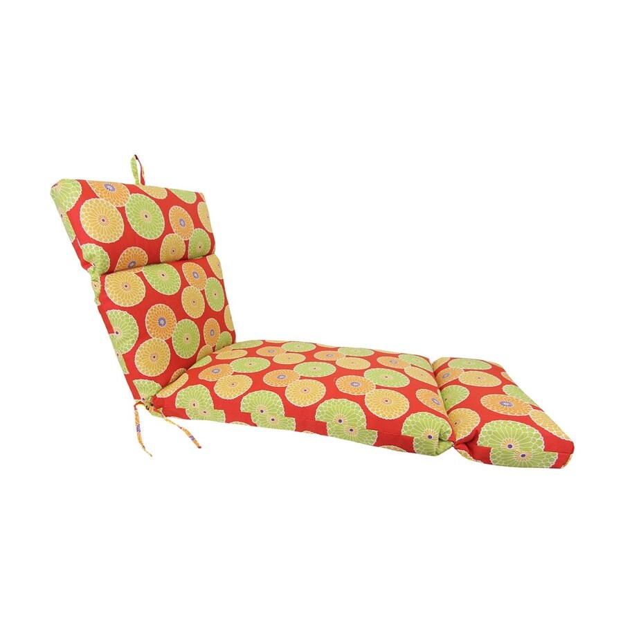 Jordan Manufacturing Springdale Beachside Floral Cushion for Chaise Lounge