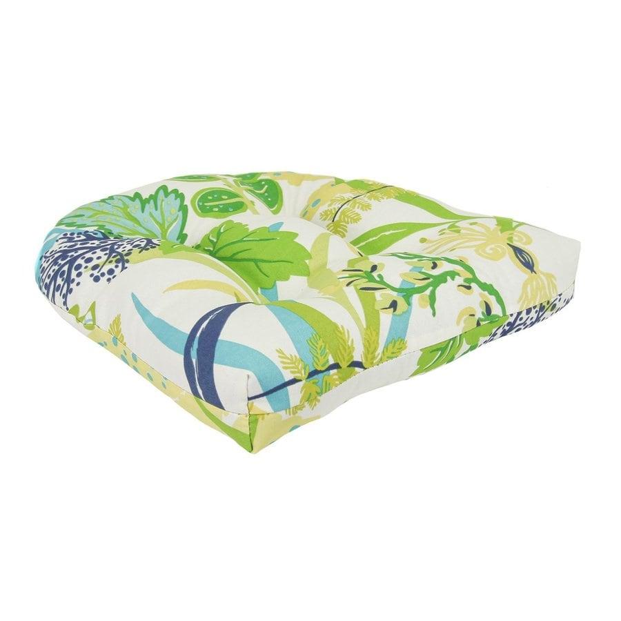 Jordan Manufacturing 1-Piece Aquamarine Standard Patio Chair Cushion