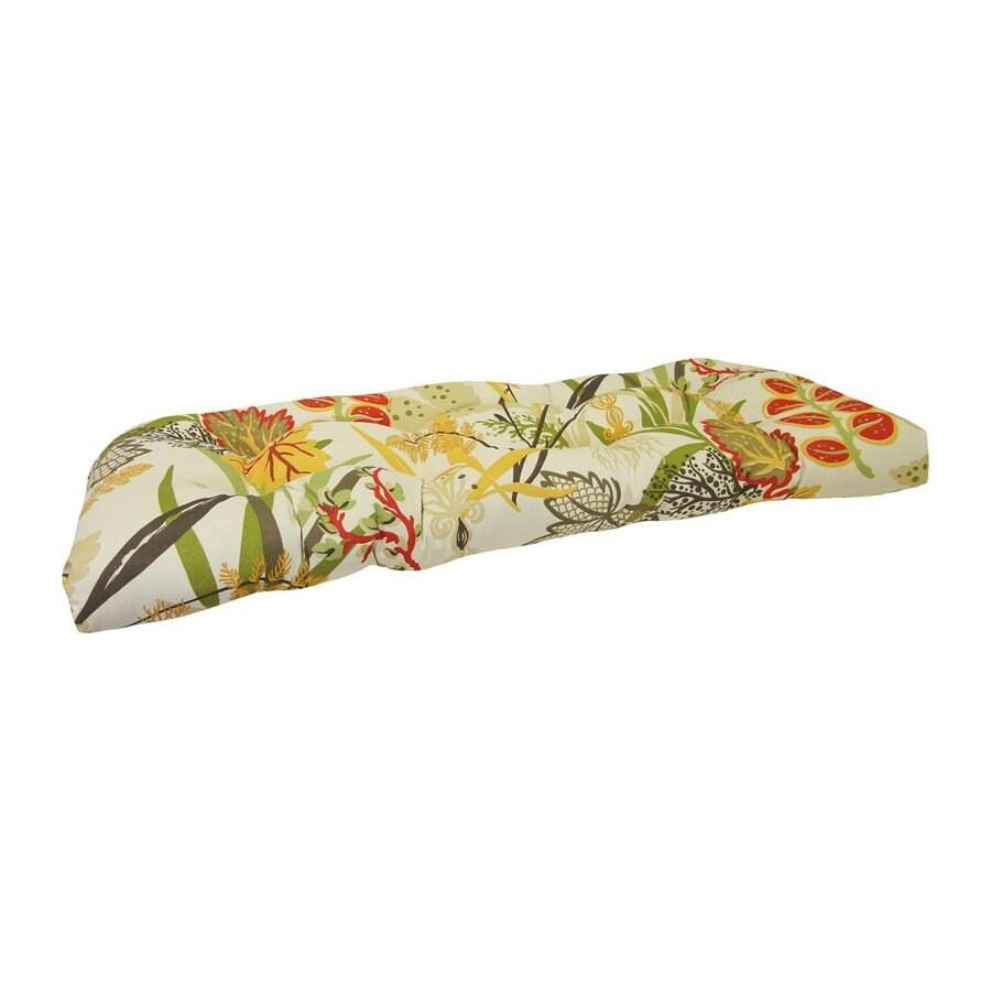 Jordan Manufacturing Fishbowl Seaweed Floral Cushion For Loveseat
