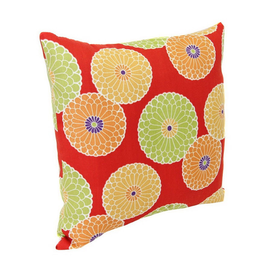 Jordan Manufacturing Springdale Beachside Floral Square Outdoor Decorative Pillow