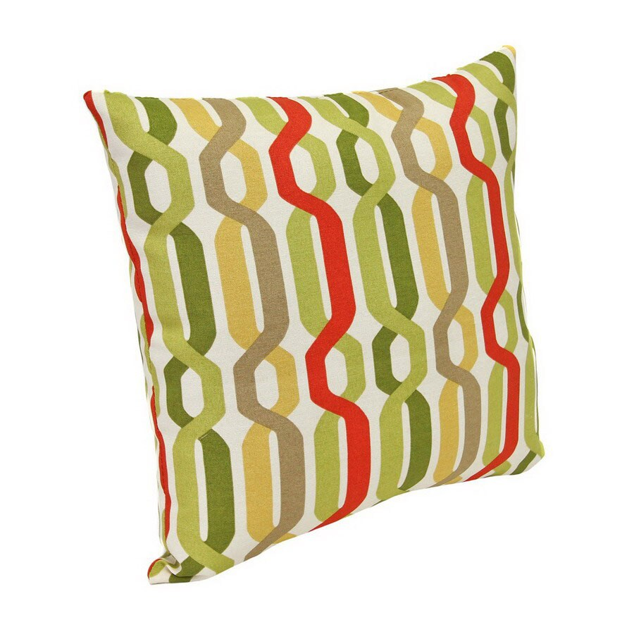 Jordan Manufacturing New Twist Seaweed Stripe Square Outdoor Decorative Pillow