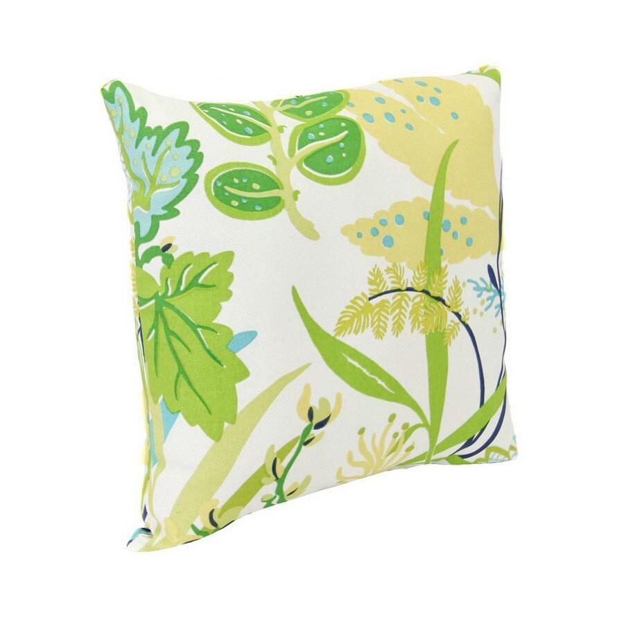 Jordan Manufacturing Fishbowl Aquamarine Tropical Square Outdoor Decorative Pillow